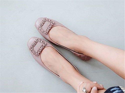 Square Round Slip Comfort Fashion Toe Dress Purple On Flats Ballet Women's Cloudless Flats wqYRgt