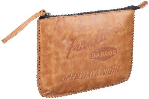 Frankie's Garage Pad Garage SE101026-010 - Bolsa para portátil de cuero unisex Marrón