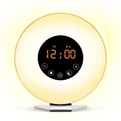 NakaLight Wake Up Light Sunrise Alarm Clock for Heavy Sleepers Alarm Clock with Sunrise and Sunset