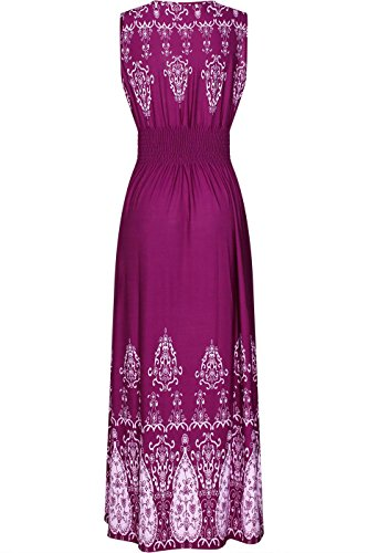 Violet Women's Print Shoulder Tie Dress Chevron Maxi 2LUV Paisley FpqOUxw0Z