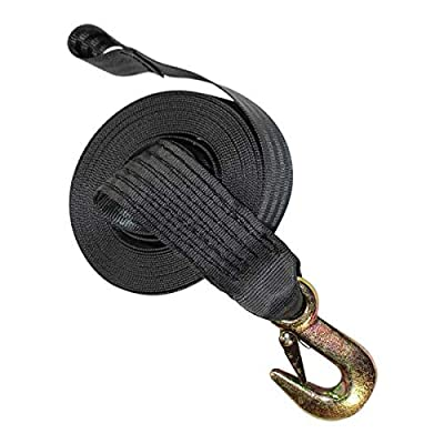 Boat Winch Strap with Hook - SGT KNOTS - Heavy Duty Marine Trailer Straps - Boat Towing Equipment & Tie Downs - Heavy Load 3,000 lbs Break Strength - Replacement Boat Winch Strap