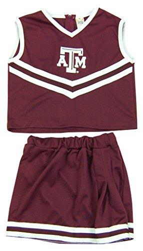 NCAA Alabama crimson Tide Girls Cheerleader Two Piece Costume (Crimson Kids Costumes)