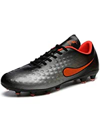 No.66 Town Men's Women's FG Football Cleats Shoes Lawn Spikes Non-Slip Sports Training Shoes for Youth