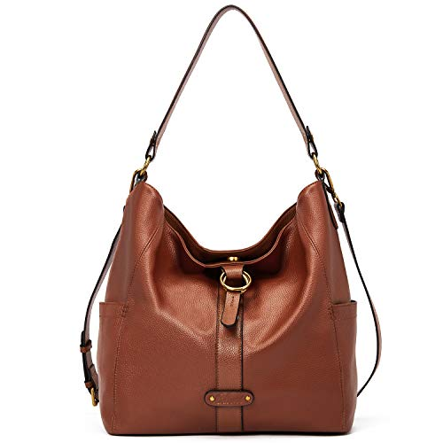 Handbags Purse for Women Designer Genuine Leather Large Ladies Tote Hobo Vintage Shoulder Bags Brown
