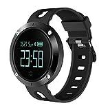 KOROWA LEMFO T1 Heart Rate Blood Pressure Monitoring Intelligent Smart Watch Step Counter Tracker Pedometerblack