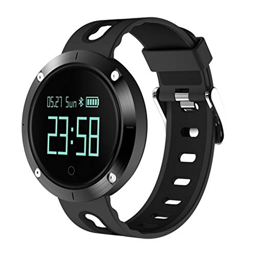 KOROWA LEMFO T1 Heart Rate Blood Pressure Monitoring Intelligent Smart Watch Step Counter Tracker Pedometerblack by KOROWA