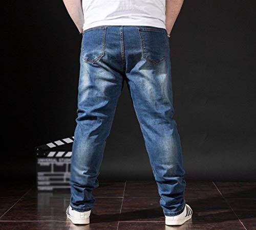 De Los De Dunkelblau Pantalones Vaqueros Rectos Casuales La De Pantalones Mezclilla Cómodos Flojos Pantalones Pantalones Los Pantalones Tamaños Rectos Pantalones Hombre De Vaqueros Casuales Hombres Ropa Manera tF1Oxxgqw6