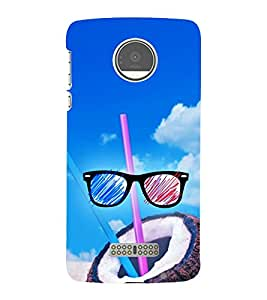 Beach Vacations 3D Hard Polycarbonate Designer Back Case Cover for Motorola Moto Z :: Motorola Moto Z Droid in USA