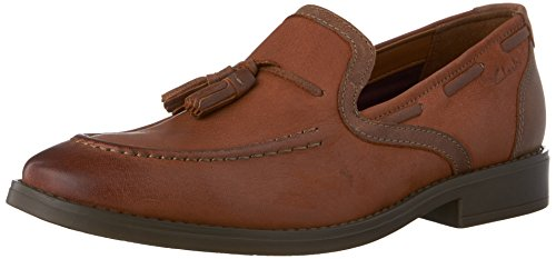 CLARKS Mens Garren Style Slip-On Loafer Tan