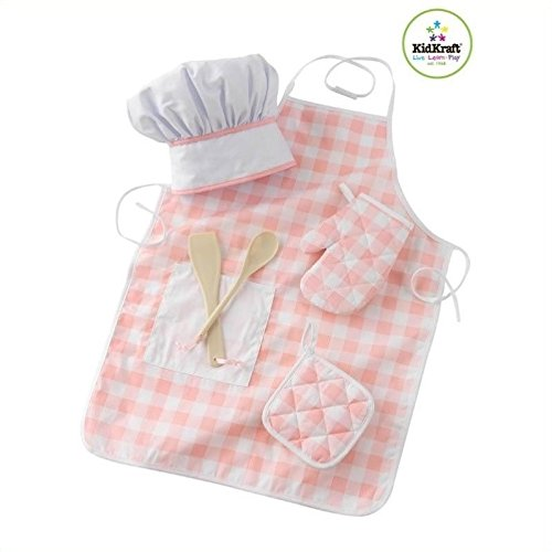 Kitchen 2 Piece Girls Play Kitchen and Tasty Treat Chef Accessory Set in Pink