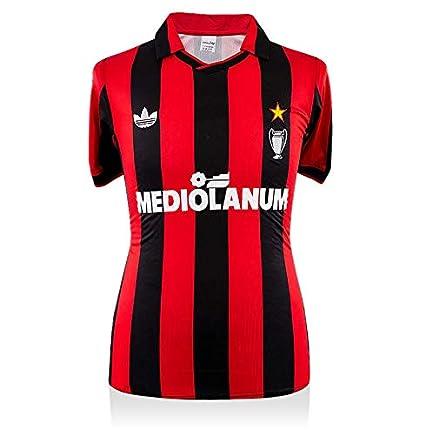 Icons.com Paolo Maldini Back Signed AC Milan 1990-92 Home Shirt ...