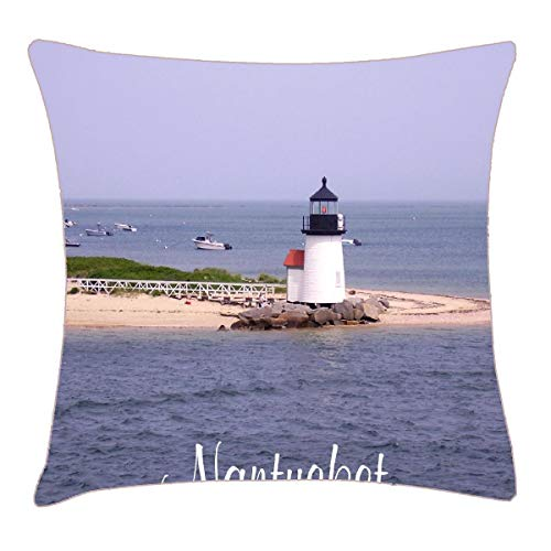 HFYZT Brandt Point Lighthouse Nantucket MA Pillow Case Pillowcase Cushion Shell 18
