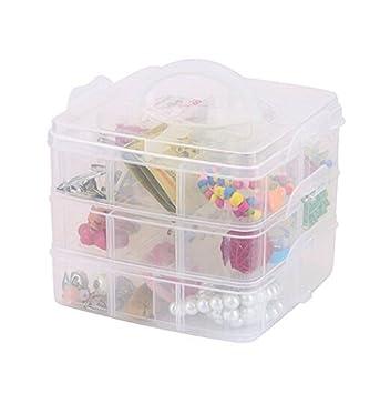 Amazon.com: Plástico desmontable 3 capas 18 compartimentos ...