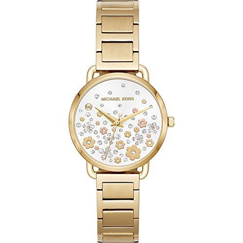 Michael Kors Watches Womens Portia Gold-Tone Watch