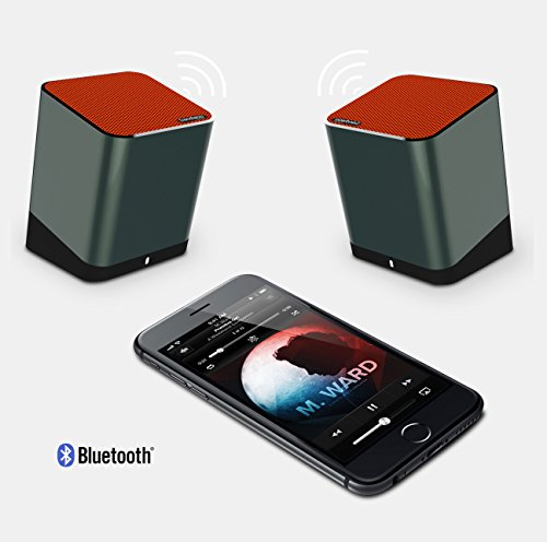 NFC Tech Bluetooth Speakers with Distinctive Stereo Sound Hands-Free Function Bluetooth Speakers Meidong Hi-Fi Portable Wireless Speaker Louder Volume 10W + Mic
