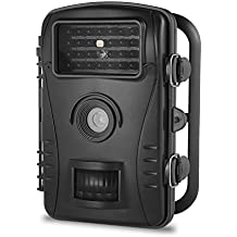 """Trail Camera Aidodo Game & Hunting Camera with 2.4"""" LCD Screen & PIR Sensors, Widelife Camera with Infrared Night Vision, IP54 Waterproof Design for Home Security"""