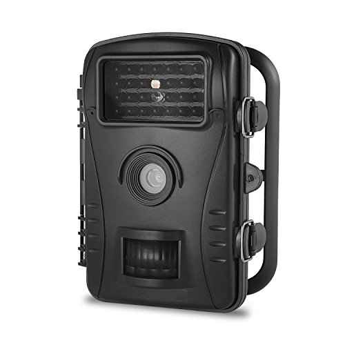 Trail Camera MAXFUL Hunting and Game Wildlife Camera 720P HD IP54 Waterproof With 26Pcs IR LED 2.4 LCD Screen 50 Foot Infrared Night Vision Black