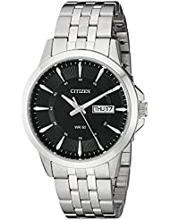 Citizen Mens Quartz Stainless Steel Watch with Day/Date, BF2011-51E