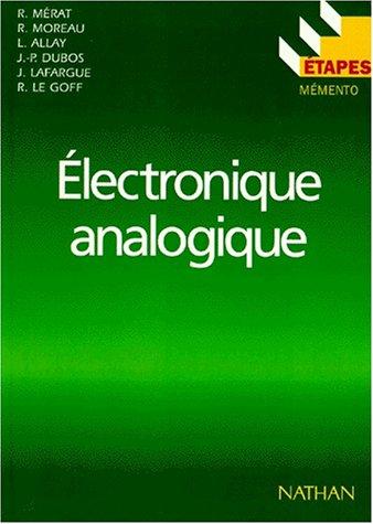 Electronique Analogique 9782091779911 Amazon Com Books