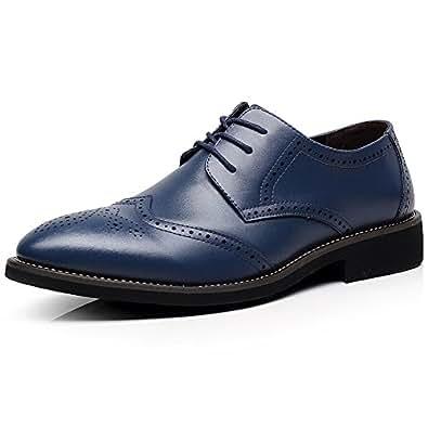 rismart Mens Derby Lace Ups Blue Size: 12.5