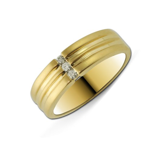 TriJewels Diamond Men Band 0.10 ct tw in 14K Yellow Gold. size 13.0 ()
