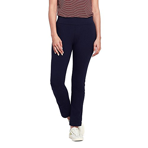Lands' End Women's Starfish Slim Leg Pants, XL, True Navy (Navy Pull)