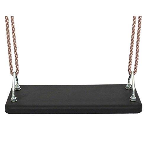 Schaukelbrett schwarz aus Gummi mit Seil von Gartenpirat®