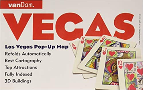 Pop-Up Las Vegas Map by VanDam - City Street Map of Las Vegas ... on