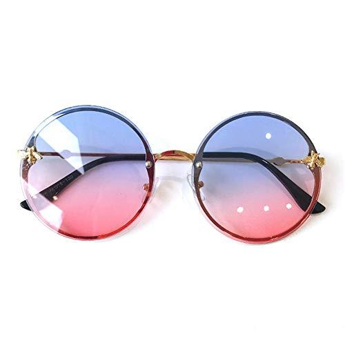 de redondo NIFG protección color de Gafas de gradiente sol UV retro sol de golpe de gafas marco calle wOYOqpnxrP