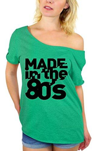 n The 80's Black Off Shoulder Tops T-Shirt + Bookmark M Kelly ()