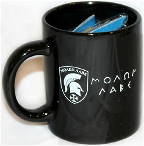 ALBATROS Black Molon Labe Come and Take IT 12 oz Ceramic Mug with 12 in x 18 in Tea Party Flag for Home and Parades, Official Party, All Weather Indoors ()