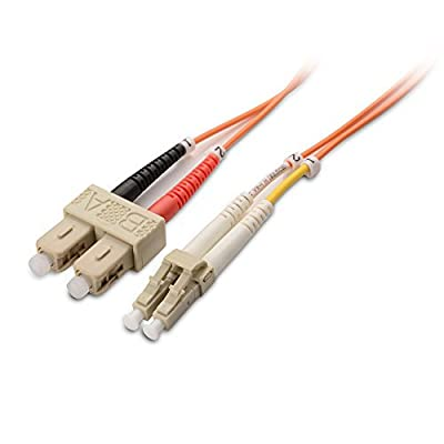 Cable Matters Multimode OM1 62.5/125 Duplex OFNP Fiber Optic Cable LC to SC