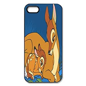 Customize Black White Cartoon Disney Bambi Back Case for iphone 5 5S JN5S-2200