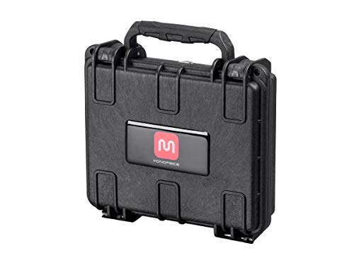 (Monoprice Weatherproof / Shockproof Hard Case - Black IP67 Level Dust And Water Protection up to 1 Meter Depth With Customizable Foam, External 7.48 x 6.69 x 2.36)
