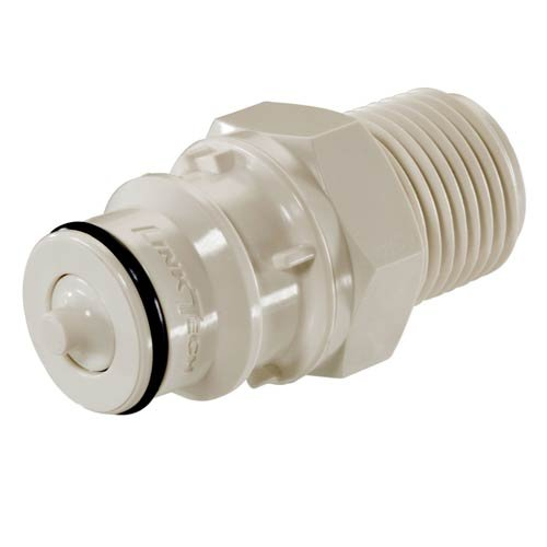 60PSV-PE1-06, 60PS Series Male Thread Plug, Valved, 3/8'' MNPT, Sold in a package of 10