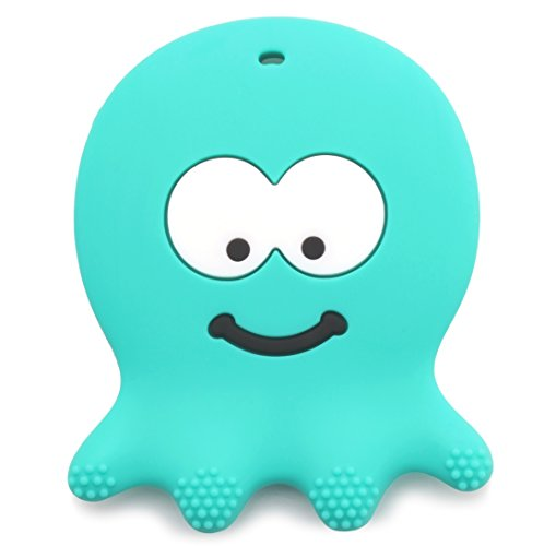 6 Month Old Baby Toys - Adorable Teething Octopus - Best Sensory Learning Teether For Girl Or Boy Infant Newborn 3 / 12 Months / 1 Year Old - BPA Free Silicone - Cool Baby Shower And Christmas Gifts