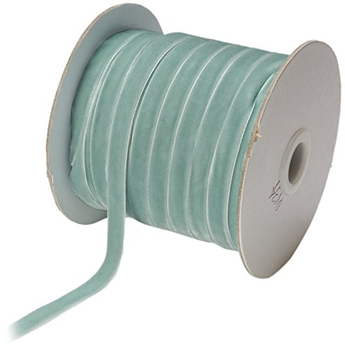 May Arts 3/8-Inch Wide Ribbon, Light Blue Velvet