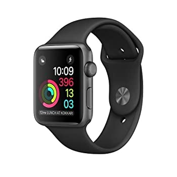 New Apple Series 2 Watch For Iphone - 42mm Space Gray Aluminum Case With Black Sport Band 0