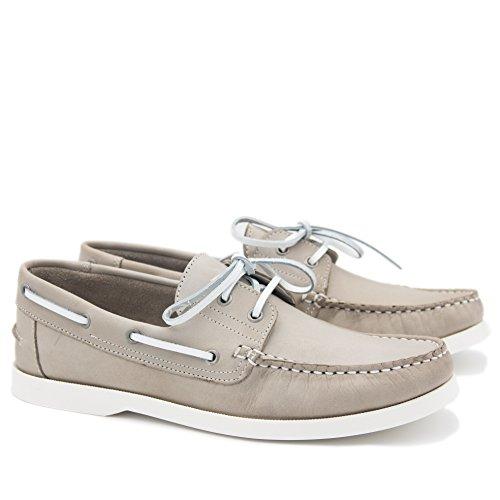 CASTELLANISIMOS 101102 Zapatos Nauticos Piel con Cordones Hombre GRIS