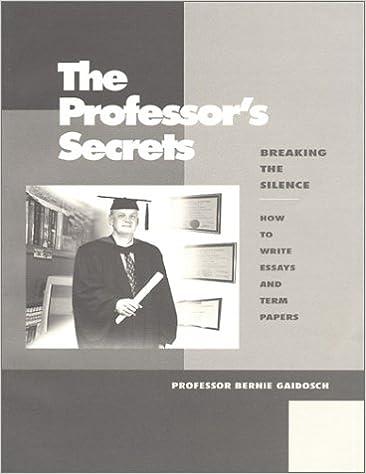 the professors secrets breaking the silence    how to write essays  the professors secrets breaking the silence    how to write essays and term  papers paperback  nov