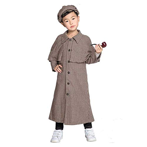 CosSail Kids Sherlock Holmes Costume Detective Cosplay Costume ()