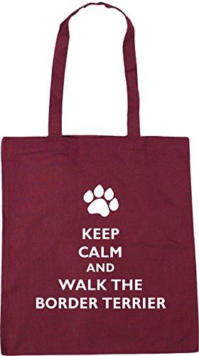 x38cm dog Keep 42cm 10 Bag HippoWarehouse Burgundy Beach Shopping the litres walk and border Tote Gym calm terrier 6qqdU4