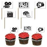 Pack of 50 Movie Set Picks - Hollywood Awards Night Party Food Picks