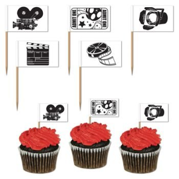 Pack of 50 Movie Set Picks - Hollywood Awards Night Party Food Picks by Beistle