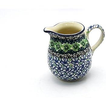 Polish Pottery Creamer 10 oz Kiwi