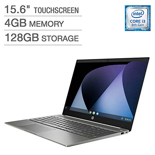 "2019 Flagship HP Chromebook 15.6"" IPS FHD 1080p Touchscreen Core i3-8130u 4GB 128GB eMMC Ceramic White"