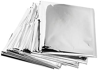 "Science Purchase 73MYLARPK20 Emergency Mylar Thermal Blankets, 54"" x 84"" (Pack of 20)"