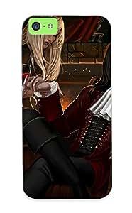 High Quality Exultantor Dark Horror Evil Vampire Art Gothic Skin Case Cover Specially Designed For Iphone - 5c