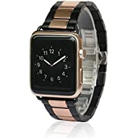 Apple Watch Band, AWStech 42mm Stainless Steel Replacement Smart Watch Band Wrist Strap Bracelet with Butterfly...