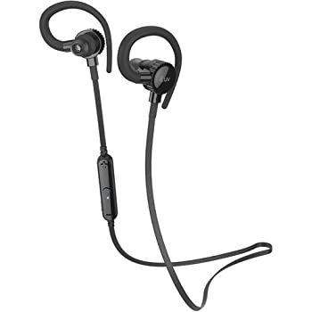 iLuv FitActive Jet 2 Wireless Bluetooth Sweat-Resistant Inner Ear Sports Headphones with Ear Hooks and Built-in Mic